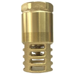 Heavy Duty Brass 3/4″ NPT Female Foot Valve Backflow Preventer Check Valve for Well Jet Pumps Foot Valve, Maintains Pump Prime and Strainer Filters Out Debris